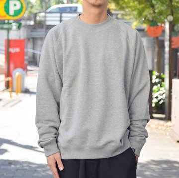 "【2018 AW】 Graphpaper (グラフペーパー)""LOOPWHEELER"" for Graphpaper Raglan Sweat  GU183-70128B-GR"