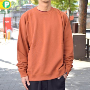 "【2018 AW】 Graphpaper (グラフペーパー)""LOOPWHEELER"" for Graphpaper Raglan Sweat  GU183-70128B-BC"