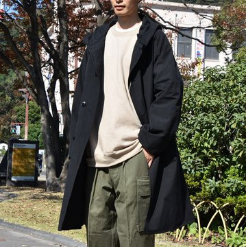 【2018 AW】COMOLI (コモリ) フーデッドコート -BLACK- #N03-04011