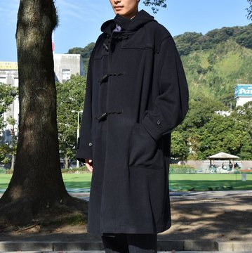 【18 AW】AURALEE(オーラリー) / CASHMERE WOOL MOSSER BIG DUFFLE COAT -NAVY- #A8AC01MC
