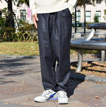 Graphpaper(グラフペーパー) Marzotto Cook Pants -NAVY- #GM183-400119B
