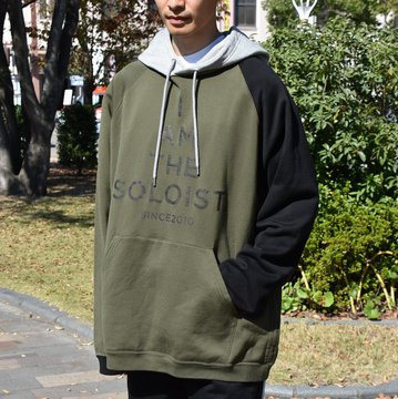 【2018 AW】TAKAHIRO MIYASHITA The SoloIst.(タカヒロミヤシタ ザ ソロイスト) multi color oversized pullover hoodie -olive×black×gray- #sc.0008aw18