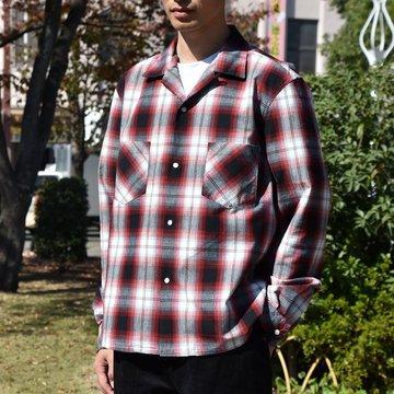 【2018 AW】TAKAHIRO MIYASHITA The SoloIst.(タカヒロミヤシタ ザ ソロイスト) Work Shirt -BLACK x RED- #sws0011baw18