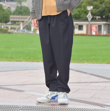 Graphpaper(グラフペーパー) SELVAGE Wool Cook Pant -NAVY- #GM183-40092B