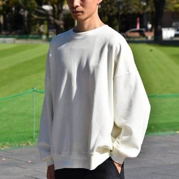 【40% OFF SALE】blurhms(ブラームス) / Rough & Smooth Thermal Loose Fit Crew-neck L/S   -WHITE-  BHS-RKAW18004