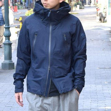 DESCENTE ALLTERRAIN(オルテライン)/ACTIVE SHELL JACKET -NAVY- #DAMMGC45