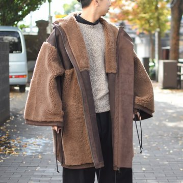 【2018 AW】 too good(トゥーグッド) / THE EXPLORER COAT SHEARLING -PEAT-