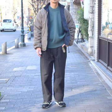 【30% OFF SALE】AURALEE(オーラリー) / FELT WOOL YARN KNIT PO -BLUE GREEN- #A8AP01FU