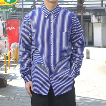 【19 SS】Graphpaper(グラフペーパー) THOMAS MASON L/S B.D BOX SHIRT -NAVY ST- #GM191-50033B
