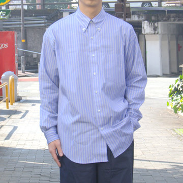 【19 SS】Graphpaper(グラフペーパー) THOMAS MASON L/S B.D BOX SHIRT -SAX ST- #GM191-50033B