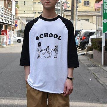 【2019 SS】 TODAY editon (トゥデイエディション) SCHOOL BASEBALL TEE-2色展開-