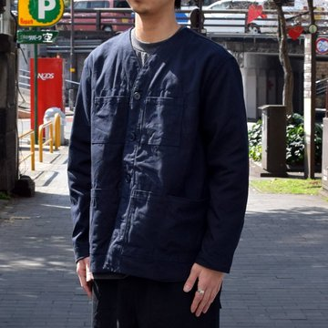 holk (ホーク) Farmers jacket -NAVY- #HOLK-002