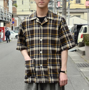 [2019ss] NEEDLES(ニードルス)-CABANA SHIRT PLAID-BROWN  #EJ190