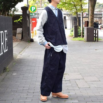 【2019 SS】 FRANK LEDER(フランクリーダー) INDIGO DYED COTTON VEST -(39)INDIGO- #0617027-39