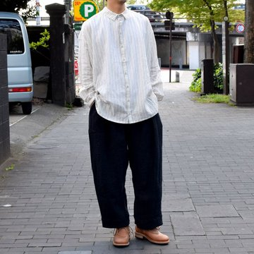 【2019 SS】 too good(トゥーグッド) / THE DRAUGHTSMAN SHIRTS WIDE -TICKING STRIPE-