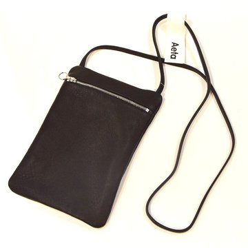 Aeta (アエタ) DEER FLAT POUCH SHOULDER B -BLACK-#DA07