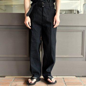 【2019 SS】COMOLI (コモリ)  デニムベルテッドパンツ-BLACK-  #P01-03004
