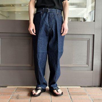 【2019 SS】COMOLI (コモリ)  デニムベルテッドパンツ-NAVY-  #P01-03004