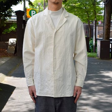 un unbient /Zak Cotton Tailored -WHITE-#UNSSH1919-2