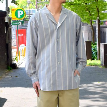 un unbient /TAILORED COLLAR SHIRT -BLUE STRIPE-#UNSSH1919-1