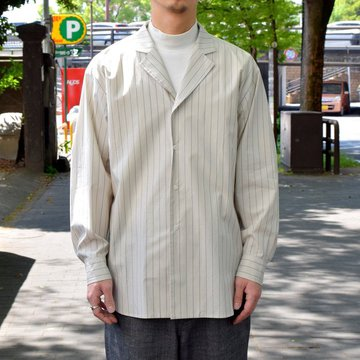 un unbient /TAILORED COLLAR SHIRT -WHITE STRIPE-#UNSSH1919-1