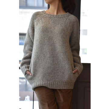CristaSeya(クリスタセヤ)  shetland sweater with pockets(シェットランドセーター)