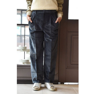 【30% off sale】CristaSeya(クリスタセヤ)  Corduroy pants(コーデュロイパンツ/smoky blue)