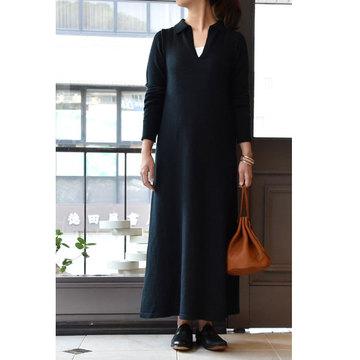 【30% off sale】CristaSeya(クリスタセヤ)  Polo dress(ポロニットドレス)