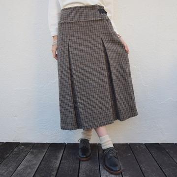 【30% OFF SALE】gasa (ガサ) 落陽 ボックスプリーツスカート