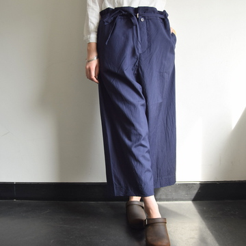 YAECA(ヤエカ) シルクベルトパンツ【K】