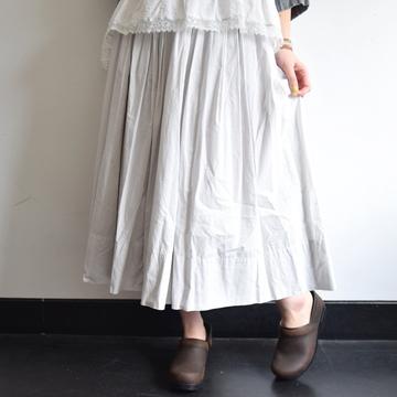 gasa*grue (ガサグルー) Pima cotton タックギャザースカート