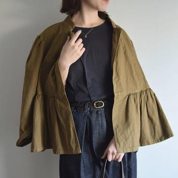 【40% off sale】DRIES VAN NOTEN(ドリスヴァンノッテン) VIVIAN BIS 裾ギャザーフレアジャケット【K】