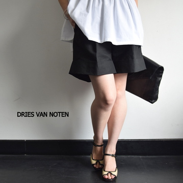 DRIES VAN NOTEN(ドリスヴァンノッテン) PATRIC 裾ダブルショートパンツ(2色展開)【K】