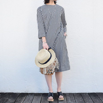 commono reproducts (コモノリプロダクツ) BACK BUTTON ONE-PIECE【K】