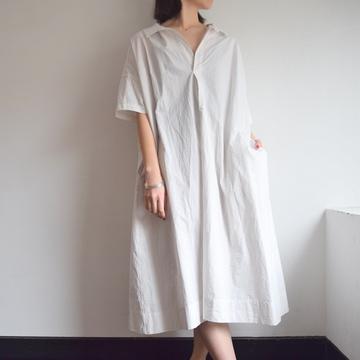 TOUJOURS(トゥジュー) Open Back Yolk Skipper Shirt Dress【K】