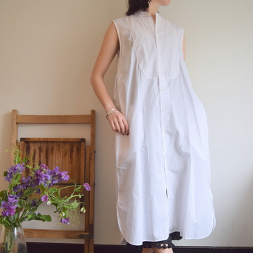 TOUJOURS(トゥジュー) Sleeveless Bosom Shirt Dress【K】