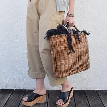 ebagos(エバゴス) リトアニア手織り被せビッグトート【K】