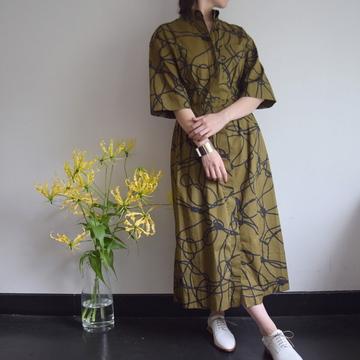 DRIES VAN NOTEN(ドリスヴァンノッテン) DAMPIER 総柄シャツドレス【K】