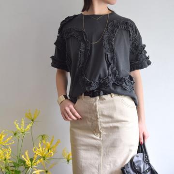 DRIES VAN NOTEN(ドリスヴァンノッテン) HIU ラッフルコットンTシャツ(2色展開)【K】