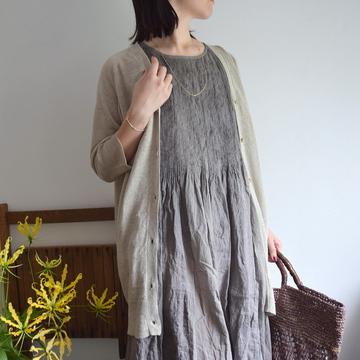 maison de soil(メゾンドソイル)  Patchwork Mini Pintuck No Sleeve Dress【K】