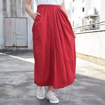 commono reproducts (コモノリプロダクツ) Gather Skirt(RED)【K】