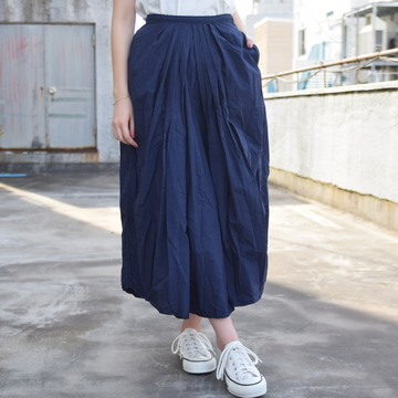 commono reproducts (コモノリプロダクツ) Gather Skirt(NAVY)【K】