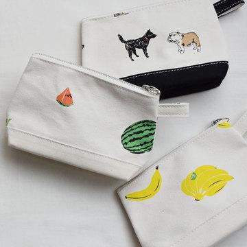 TEMBEA(テンベア) TOILETRY BAG MEDIUM PRINT(バナナ/スイカ/DOG)