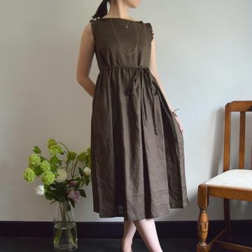 Bilitis dix-sept ans(ビリティス・ディセッタン)Linen Dress