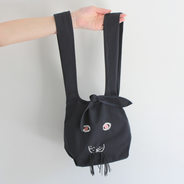 mina perhonen(ミナ ペルホネン)usa bag(小) (navy)