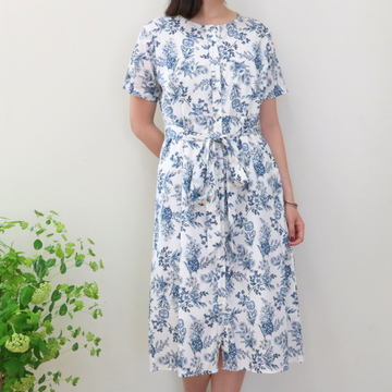 LENO&Co.(リノアンドコー)/BOTANICAL NO-COLLAR DRESS【T】