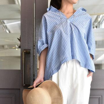 TOUJOURS(トゥジュー) Open Back Yolk Skipper Shirt(オープンバックヨークスキッパーシャツ)