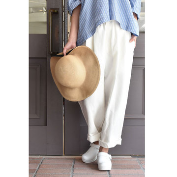 【30% off sale】R&D.M.Co-/OLDMANS TAILOR(オールドマンズテーラー) / 高密度LINEN WIDE TAPERED PANTS (2色展開)