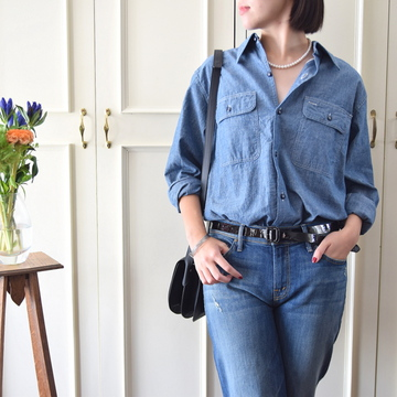 MADISONBLUE(マディソンブルー)HAMPTON CHAMBRAY SHIRT(OW)【K】