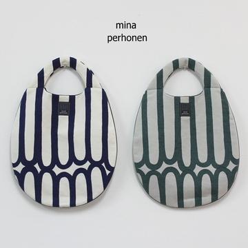 mina perhonen(ミナ ペルホネン) finger stripe エッグバッグ(2色展開)